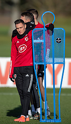 CARDIFF, WALES - Monday, November 18, 2019: Wales' Connor Roberts during a training session at the Vale Resort ahead of the final UEFA Euro 2020 Qualifying Group E match against Hungary. (Pic by David Rawcliffe/Propaganda)
