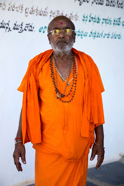 KADIRI, INDIA - 2nd November 2019 - The shrine of Yogi Vemana - an Indian poet and philosopher from Andrha Pradesh who wrote in the Telugu language and was noted for his use of simple language and native idioms, Andhra Pradesh, South India.<br /><br />Andhra Pradesh is India's third most-visited state domestically, with more than 120 million people flocking there annually. The majority of visitors are Hindu pilgrims journeying to Tirupati, a city that holds one of the world's wealthiest temples and most frequented sacred sites.<br /><br />From Tirupati, pilgrims often tour the main spiritual destinations of the state's southern areas, heading for the town of Puttarpathi, home of the late – and controversial – spiritual guru Sathya Sai Baba; to the shrine of Yogi Vemana (pictured), to a mysterious, gravity-defying stone pillar suspended from the ceiling at Lepakshi Temple; to practice darshan (the beholding of a deity, holy person or sacred object) at the Sri Lakshmi Narasimha temple in the town of Kadiri and to visit the world's largest single tree canopy at Thimmamma Marrimanu.