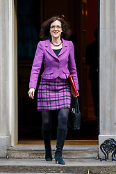 © Licensed to London News Pictures. 24/02/2015. LONDON, UK. Northern Ireland Secretary Theresa Villiers attending to a cabinet meeting in Downing Street on Tuesday, 24 February 2015. Photo credit: Tolga Akmen/LNP