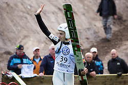 Jaka Hvala during Slovenian summer national championship and opening of the reconstructed Bloudek's hill in Planica on October 14, 2012 in Planica, Ratece, Slovenia. (Photo by Matic Klansek Velej / Sportida)