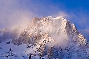 Winter dawn on Carson Peak, June Lake, California USA