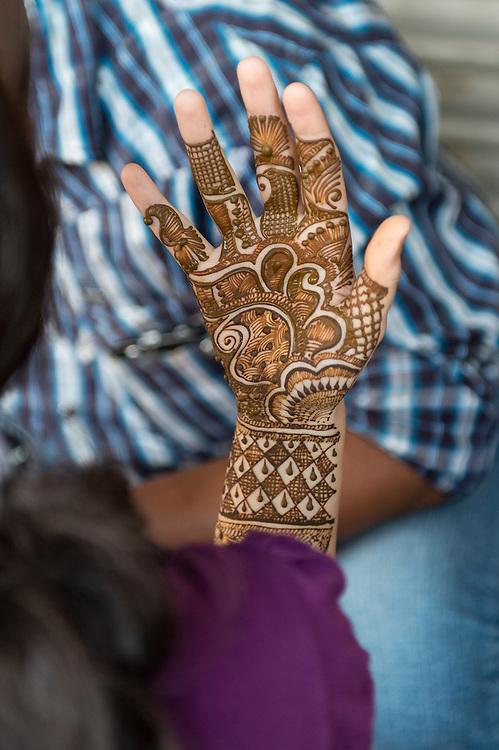 Henna Tattoo auf Hand