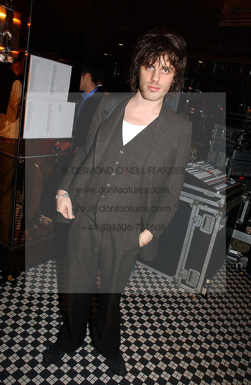 JACKSON SCOTT at The Christmas Cracker - an evening i aid of the Starlight Children's Charity held at Frankies, Knightsbridge on 13th December 2006.<br />