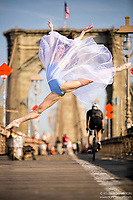 Dance As Art The New York City Photography Project Brooklyn Bridge with dancer