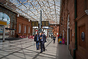 Commuters inside Nottingham Train Station on Station Street, Nottingham, Nottinghamshire, United Kingdom.  (photo by Andrew Aitchison / In pictures via Getty Images)