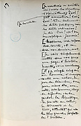Handwritten notes for a speech supporting a bill offering amnesty to the communards (participants in the Paris Commune), 1876, page 17, by Victor Hugo, 1802-85, French writer, housed in the Archives du Senat, in the Senate in the Palais du Luxembourg, 6th arrondissement, Paris, France. Hugo was a senator for Seine 1876-85, and gave this speech on 22nd May 1876. Although this bill was not passed, a general amnesty was granted in 1880. Picture by Manuel Cohen