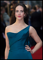 April 9, 2018 - London, London, United Kingdom - Image licensed to i-Images Picture Agency. 09/04/2018. London, United Kingdom. Jessica Brown Findlay arriving at The Guernsey Literary and Potato Peel Pie Society premiere in London. (Credit Image: © Stephen Lock/i-Images via ZUMA Press)