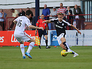 Dundee's Greg Stewart runs at Inverness&rsquo; Greg Tansey - Dundee v Inverness Caledonian Thistle in the Ladbrokes Premiership at Dens Park<br /> <br />  - &copy; David Young - www.davidyoungphoto.co.uk - email: davidyoungphoto@gmail.com