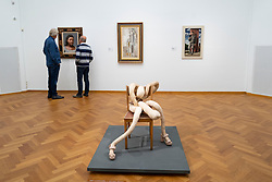 Sculpture Nobby Bloke by Sarah Lucas at the Gemeentemuseum in The Hague, Den Haag, The Netherlands