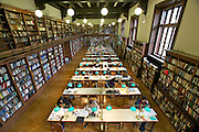Universities in Vienna, Austria..Universität Wien..The old library. Reading Room.