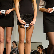 Russian models during a casting (selection) on the catwalk at the Slava Zaitsev agency in Moscow. Slava Zaitsev, king of fashion during the Soviet times, re-invented his brand after the Iron Curtain collapsed, creating a modeling school and fashion house in the centre of Moscow. .Russia supplies many models to the West. ..Photograph by Justin Jin