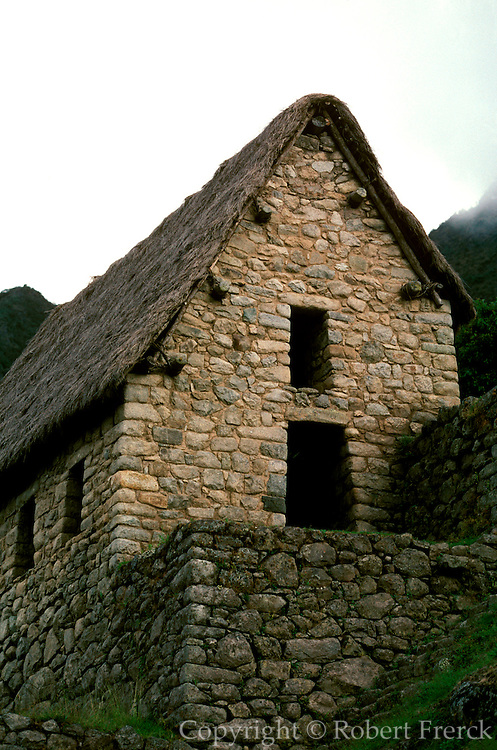 PERU, PREHISPANIC, INCA Machu Picchu; construction det.