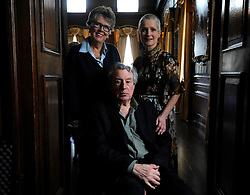 Terry Jones attends A Very Special Afternoon Tea, with Prue Leith (left) and nutritionist to the stars Jane Clarke to launch Nourish website & community, helping people living with cancer and dementia through the power of good food, real nourishment and expert support at the Royal Hospital Chelsea.