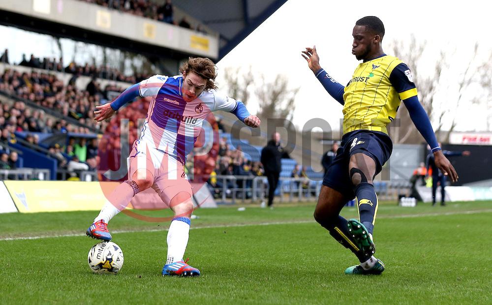 Luke James of Bristol Rovers takes on Cheyenne Dunkley of Oxford United - Mandatory by-line: Robbie Stephenson/JMP - 04/03/2017 - FOOTBALL - Kassam Stadium - Oxford, England - Oxford United v Bristol Rovers - Sky Bet League One
