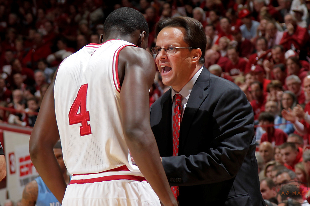 27 November 2012: Indiana head coach Tom Crean as the Indiana Hoosiers played the North Carolina Tar Heels in Bloomington, Ind.