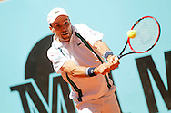 Roberto Bautista Agut during day two of the Madrid Open at Manzanares Park Tennis Centre, Madrid<br /> Picture by EXPA Pictures/Focus Images Ltd 07814482222<br /> 03/05/2016<br /> ***UK &amp; IRELAND ONLY***<br /> EXPA-ESP-160503-0040.jpg