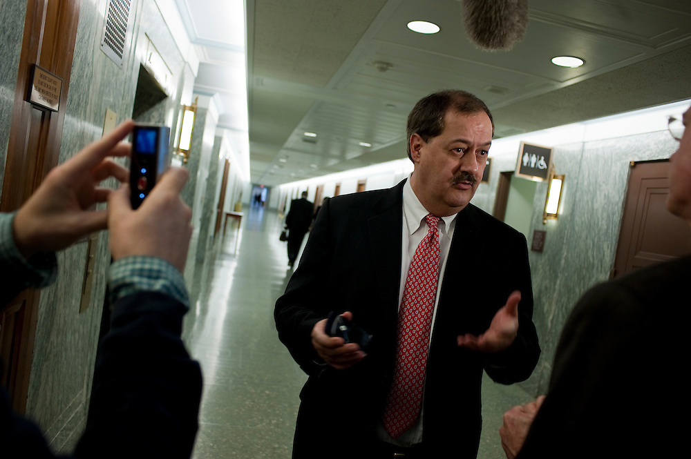May 20, 2010 - Washington, District of Columbia, U.S., - Don Blankenship, chairman and CEO of Massey Energy Company, is interviewed before his appearance before a Senate Appropriations Committee hearing on Mine Safety Investment on Thursday.(Credit Image: © Pete Marovich/ZUMA Press)