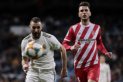 January 24, 2019 - Madrid, Spain - Real Madrid's Karim Benzema and Girona FC's Pedro Alcala during Copa del Rey match between Real Madrid and Girona FC at Santiago Bernabeu Stadium. (Credit Image: © Legan P. Mace/SOPA Images via ZUMA Wire)