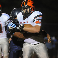 Hoggard's 90 tackles New Hanover High School's 65 Friday October 3, 2014 in Wilmington, N.C. (Jason A. Frizzelle)