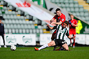during the Sky Bet League 2 match between Plymouth Argyle and York City at Home Park, Plymouth, England on 28 March 2016. Photo by Graham Hunt.