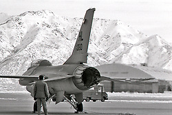 Military Plane Maintenance, B/W Images