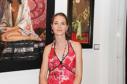 Artist GEORGINA BARCLAY at a private view of her work entitled 'Loves & Curiosities' held at the Air Gallery, Dover Street, London on 17th November 2009