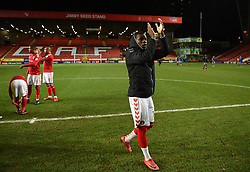 Charlton Athletic's Stephy Mavididi applauds the fans at full time