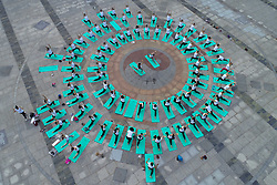 June 21, 2018 - Huai'An, Huai'an, China - Huai'an, CHINA-21st June 2018: People practice yoga at Bochi Hill Park in Huai'an, east China's Jiangsu Province, marking International Yoga Day. (Credit Image: © SIPA Asia via ZUMA Wire)