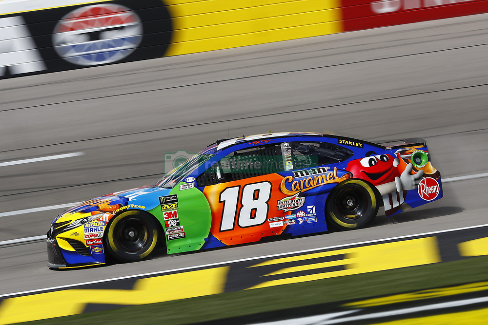 March 2, 2018 - Las Vegas, Nevada, United States of America - March 02, 2018 - Las Vegas, Nevada, USA: Kyle Busch (18) brings his race car down the front stretch during practice for the Pennzoil 400 at Las Vegas Motor Speedway in Las Vegas, Nevada. (Credit Image: © Chris Owens Asp Inc/ASP via ZUMA Wire)