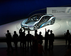BMW i8 electric concept car at Frankfurt Motor Show or IAA 2011 Germany
