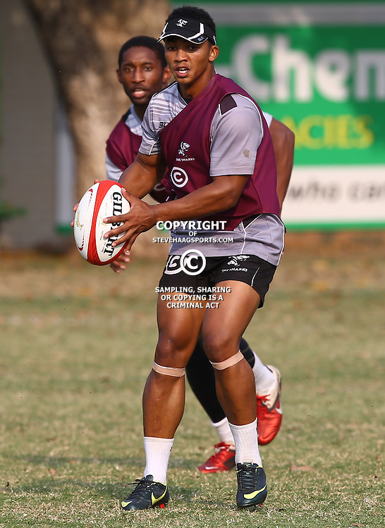 DURBAN, SOUTH AFRICA - AUGUST 18: Garth April during the Cell C Sharks training session at Growthpoint Kings Park on August 18, 2015 in Durban, South Africa. (Photo by Steve Haag/Gallo Images)
