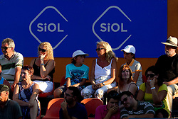 Spectators at Banka Koper Slovenia Open WTA Tour tennis tournament, on July 21, 2010 in Portoroz / Portorose, Slovenia. (Photo by Vid Ponikvar / Sportida)
