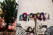 The 27 club Graffiti wall art in Florentine neighbourhood, Tel Aviv