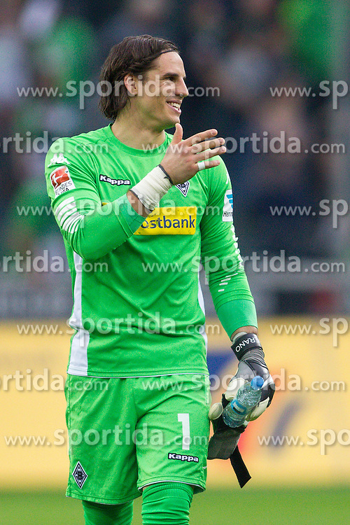 03.04.2016, Stadion im Borussia Park, Moenchengladbach, GER, 1. FBL, Borussia Moenchengladbach vs Hertha BSC, 28. Runde, im Bild Torwart Yann Sommer (Borussia Moenchengladbach #1) // during the German Bundesliga 28th round match between Borussia Moenchengladbach and Hertha BSC at the Stadion im Borussia Park in Moenchengladbach, Germany on 2016/04/03. EXPA Pictures &copy; 2016, PhotoCredit: EXPA/ Eibner-Pressefoto/ Schueler<br /> <br /> *****ATTENTION - OUT of GER*****