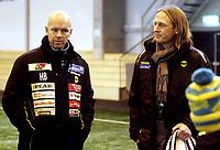 Fotball<br /> Treningskamp<br /> 30.01.09<br /> LSK Hallen<br /> Lillestrøm - Odd Grenland<br /> Henning Berg - Torgeir Bjarmann<br /> Foto - Kasper Wikestad