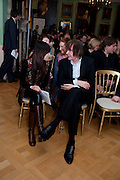 JIAXIN LLOYD WEBBER; JULIAN LLOYD WEBBER, Founding Fellows 2010 Award Ceremony. Foundling Museum on Monday  8 March
