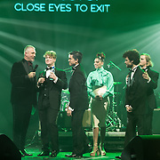 NLD/Amsterdam/201702013- Edison Pop Awards 2017, Klangstof met hun prijs in de categorie Alternative