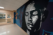 A mural painted by youth in the Juvenile Detention Center inside the City County Building in Madison, WI on Thursday, April 18, 2019.