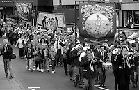Rossington and Womens Pit Camp banners. 1994 Yorkshire Miners Gala. Doncaster.