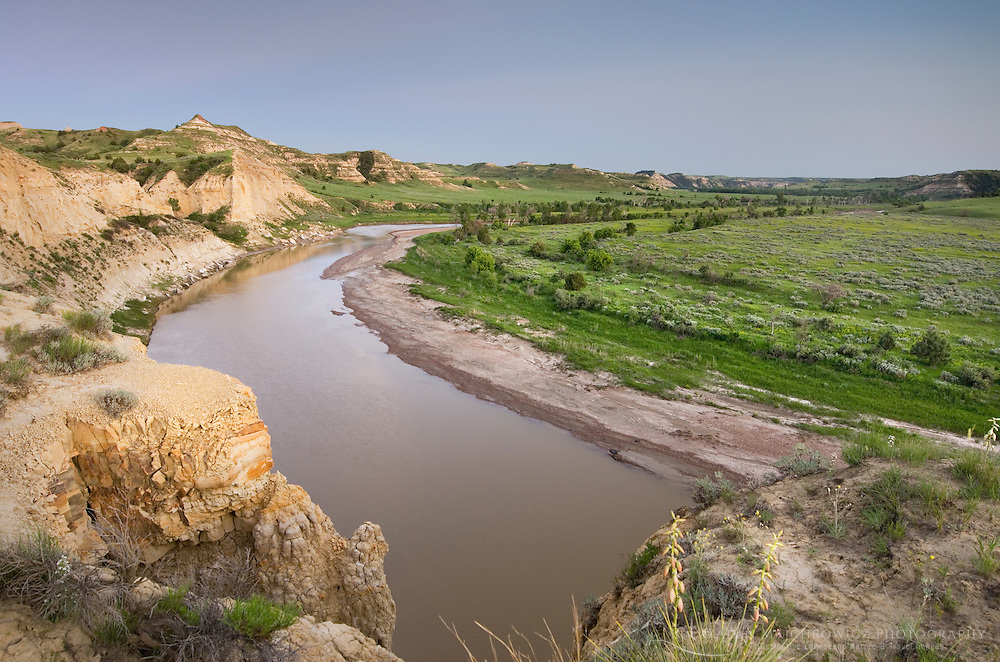 Dusk over the Little Missouri River, Theodore Rossevelt National Park, North Dakota