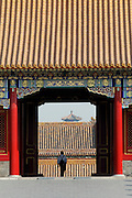 Gugong (Forbidden City, Imperial Palace). Gate next to Baohe Dian (Hall of Preserving Harmony).