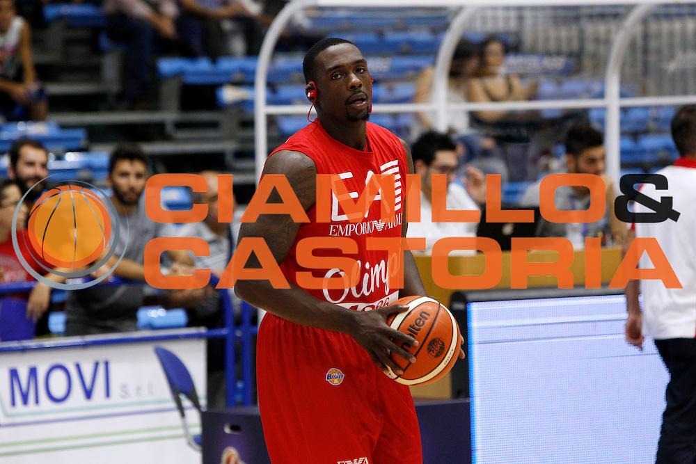 Rakim Sanders<br /> Betaland Capo D'Orlando - EA7 Emporio Armani Milano<br /> Lega Basket Serie A 2016/2017 <br /> Capo D'Orlando 02/10/2016<br /> Foto Ciamillo-Castoria