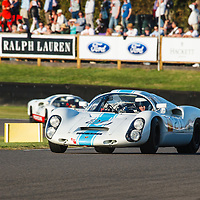 1968 Porsche 910 6-cylinder driven by Rainer Becker in the Whitsun Trophy at Goodwood Revival 2019