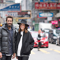 Craig Ellis & Erin Deering founders of Triangl Swimwear poses for a portrait on December 6, 2014 in Hong Kong, China. Photo by Victor Fraile / studioEAST