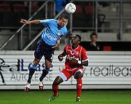 13-09-2008 VOETBAL:FC TWENTE:NEC NIJMEGEN:ENSCHEDE <br /> Fernandez met de kopbal<br /> Foto: Geert van Erven