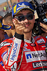 September 22, 2018 - Alcaniz, Teruel, Spain - Jorge Lorenzo (99) of Spain and Ducati Team during qualifying for the Gran Premio Movistar de Aragon of world championship of MotoGP at Motorland Aragon Circuit on September 22, 2018 in Alcaniz, Spain. (Credit Image: © Jose Breton/NurPhoto/ZUMA Press)