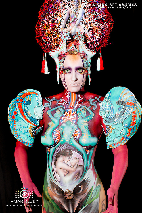 Living Art America::The Bodies Works of Art::The North American Body Painting Championship | A World Body-painting Association Sanctioned Event <br /> <br /> Artist: Moona Weaner, <br /> Model:&nbsp;Cristina Holt,<br /> Photographer: Amar Reddy<br /> <br /> www.livingartamerica.com<br /> www.AmarPhotography.com