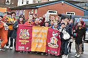 Bradford City Disability Club arrive for the FA Cup third round match between Bury and Bradford City at Gigg Lane, Bury, England on 9 January 2016. Photo by Mark Pollitt.