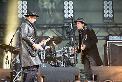Pete Doherty and Carl Barât, The Libertines on the main stage. Saturday, 11th July 2015, day two at T in the Park 2015, at its new home at Strathallan Castle.