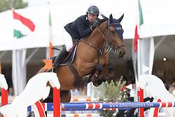 Doem Arnaud, BEL, Edgar de Prefontaine<br /> Final Belgium Championships<br /> Zangersheide FEI World Cup Breeding Jumping<br /> © Hippo Foto - Dirk Caremans<br /> 15/09/18